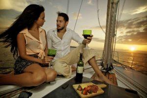 cena romántica en crucero